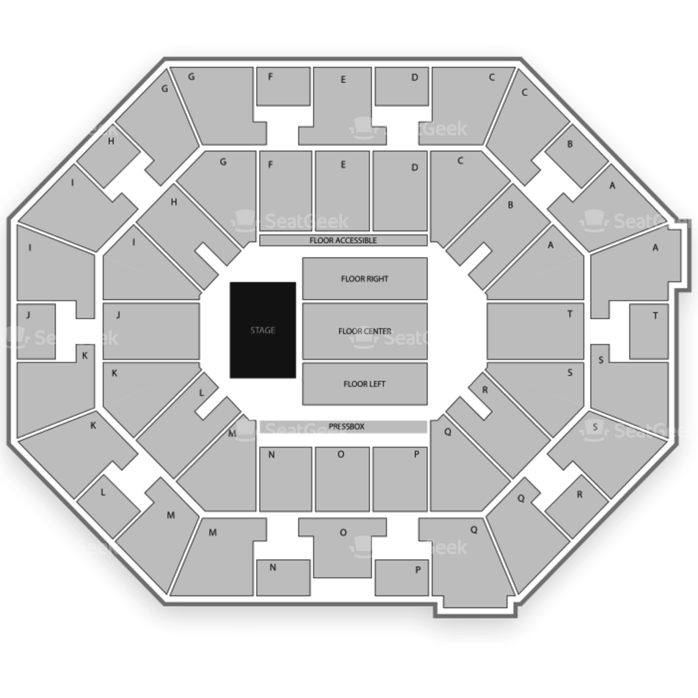 UNO Lakefront Arena Seating Chart Concert