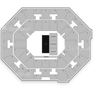 UNO Lakefront Arena Seating Chart Dance Performance Tour