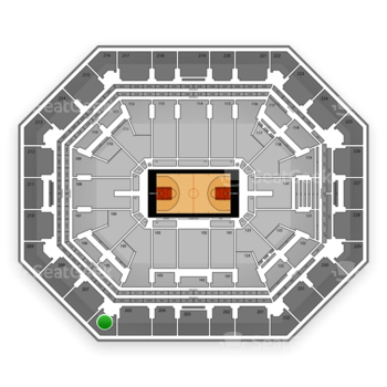 Phoenix Suns at Talking Stick Resort Arena Section 206 View