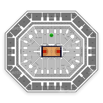 Phoenix Suns at Talking Stick Resort Arena Section 102 View