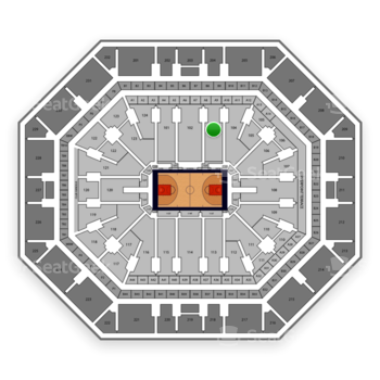 Phoenix Suns at Talking Stick Resort Arena Section 103 View