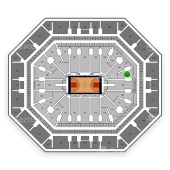Phoenix Suns at Talking Stick Resort Arena Section 107 View