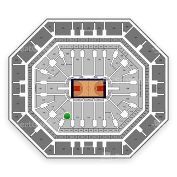 Phoenix Suns at Talking Stick Resort Arena Section 116 View