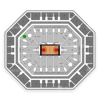 Phoenix Suns at Talking Stick Resort Arena Section 122 View