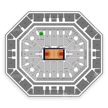 Phoenix Suns at Talking Stick Resort Arena Section 124 View