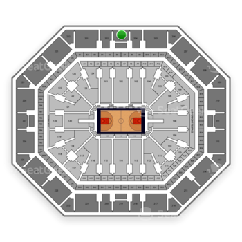 Phoenix Suns at Talking Stick Resort Arena Section 203 View