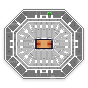 Phoenix Suns at Talking Stick Resort Arena Section 204 View