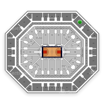 Phoenix Suns at Talking Stick Resort Arena Section 207 View