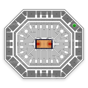 Phoenix Suns at Talking Stick Resort Arena Section 208 View