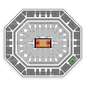 Phoenix Suns at Talking Stick Resort Arena Section 214 View