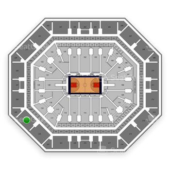 Phoenix Suns at Talking Stick Resort Arena Section 224 View