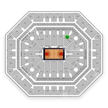 Phoenix Suns at Talking Stick Resort Arena Section 104 View