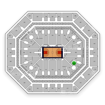 Phoenix Suns at Talking Stick Resort Arena Section 110 View