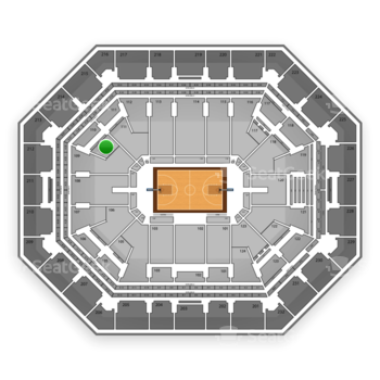 Phoenix Suns at US Airways Center Section 110 View