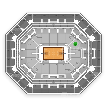 Phoenix Suns at US Airways Center Section 118 View
