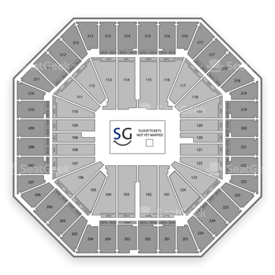 Sleep Train Arena seating chart Marvel Universe Live