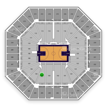 Sacramento Kings at Sleep Train Arena Section 104 View