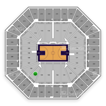 Sacramento Kings at Sleep Train Arena Section 105 View