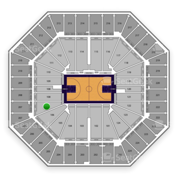Sacramento Kings at Sleep Train Arena Section 107 View