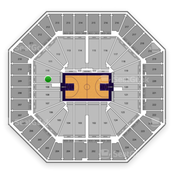 Sacramento Kings at Sleep Train Arena Section 109 View