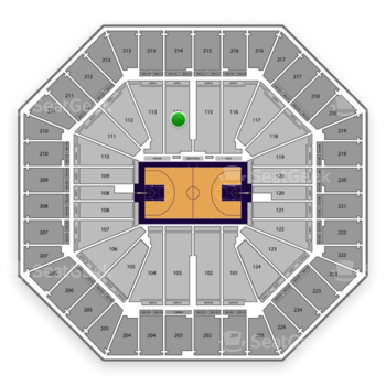 Sacramento Kings at Sleep Train Arena Section 114 View