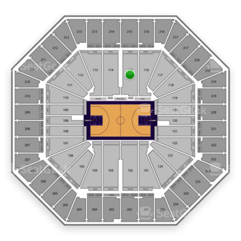Sacramento Kings at Sleep Train Arena Section 115 View