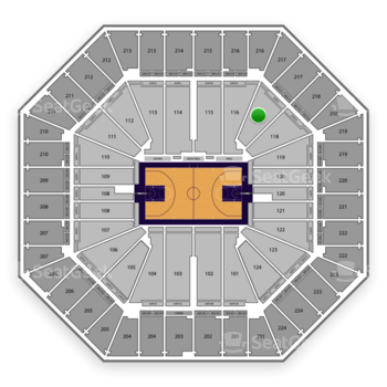 Sacramento Kings at Sleep Train Arena Section 117 View