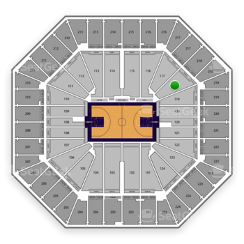 Sacramento Kings at Sleep Train Arena Section 118 View