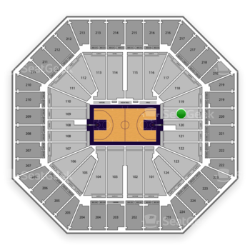 Sacramento Kings at Sleep Train Arena Section 120 View