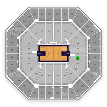 Sacramento Kings at Sleep Train Arena Section 121 View