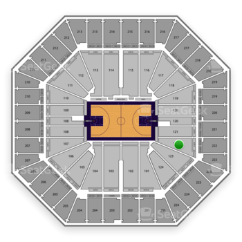Sacramento Kings at Sleep Train Arena Section 122 View