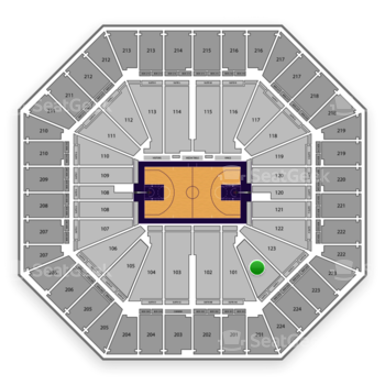 Sacramento Kings at Sleep Train Arena Section 124 View