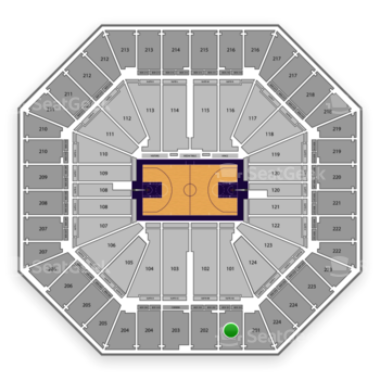 Sacramento Kings at Sleep Train Arena Section 201 View