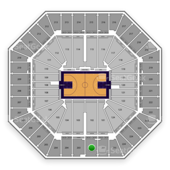 Sacramento Kings at Sleep Train Arena Section 202 View