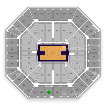 Sacramento Kings at Sleep Train Arena Section 203 View