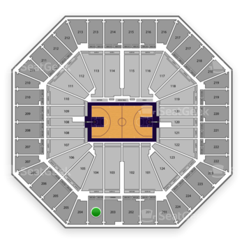 Sacramento Kings at Sleep Train Arena Section 204 View