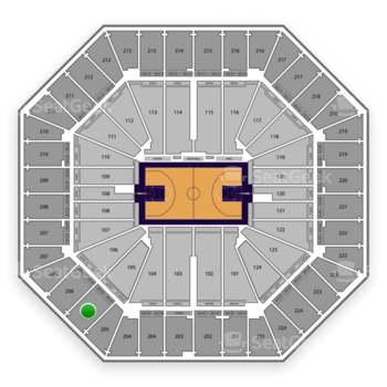 Sacramento Kings at Sleep Train Arena Section 205 View