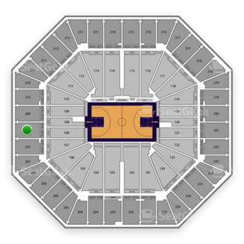 Sacramento Kings at Sleep Train Arena Section 208 View