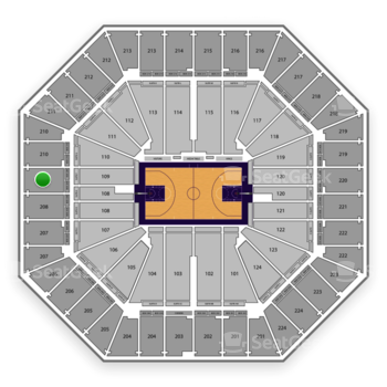 Sacramento Kings at Sleep Train Arena Section 209 View