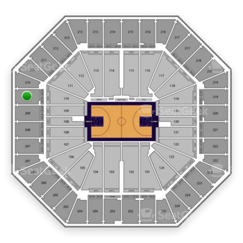 Sacramento Kings at Sleep Train Arena Section 210 View