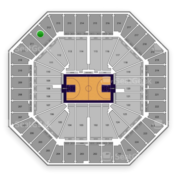 Sacramento Kings at Sleep Train Arena Section 212 View