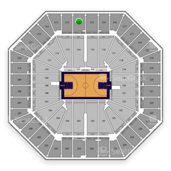 Sacramento Kings at Sleep Train Arena Section 214 View
