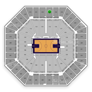 Sacramento Kings at Sleep Train Arena Section 215 View