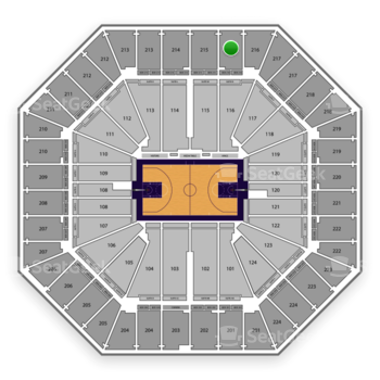Sacramento Kings at Sleep Train Arena Section 216 View