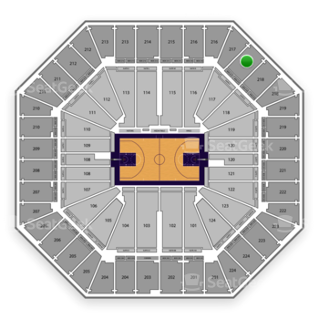 Sacramento Kings at Sleep Train Arena Section 217 View
