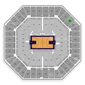 Sacramento Kings at Sleep Train Arena Section 218 View