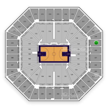 Sacramento Kings at Sleep Train Arena Section 219 View