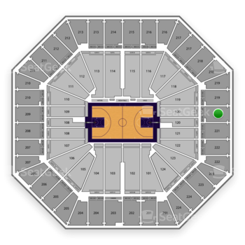 Sacramento Kings at Sleep Train Arena Section 220 View