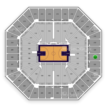 Sacramento Kings at Sleep Train Arena Section 221 View