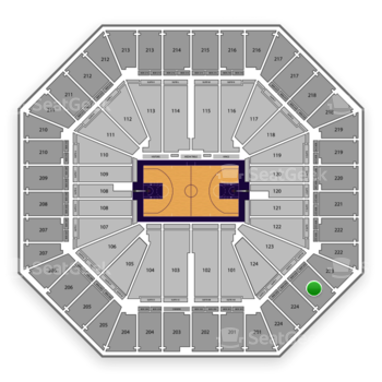Sacramento Kings at Sleep Train Arena Section 223 View